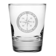 Custom Coordinates Compass Rose DOF Glasses S/4