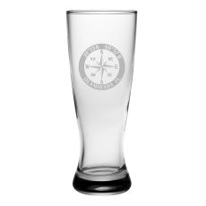 Custom Coordinates Compass Rose Grand Pilsner Glasses S/4