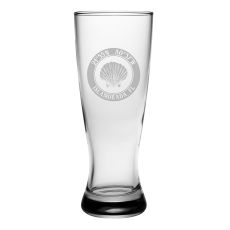 Custom Coordinates Seashell Grand Pilsner Glasses S/4