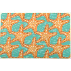 Starfish in Waves Floor Mat