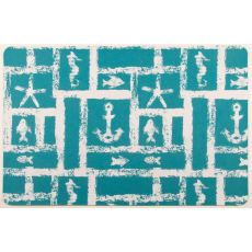 Ocean Squares Floor Mat