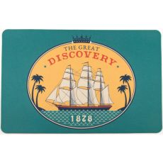 Vintage Ship 1878 Floor Mat