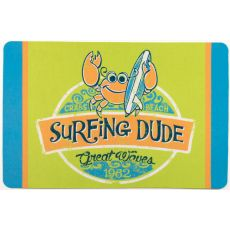 Crab Surfing Dude Floor Mat