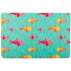 Red And Yellow Fish Floor Mat