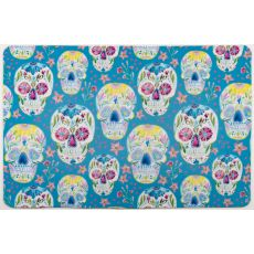 Sugar Skulls Blue Floor Mat