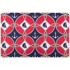 Sailboats And Anchors Floor Mat