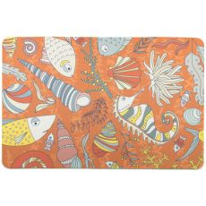 Sea Life Rust Floor Mat
