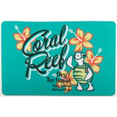 Coral Reef Turtle Floor Mat
