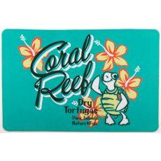 Coral Reef Turtle Floor Mat
