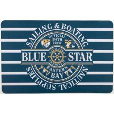 Blue Star Sailing Floor Mat