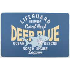 Deep Blue Shark Floor Mat