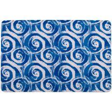 Swirls Blue Floor Mat