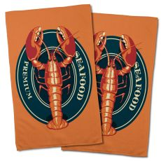 Lobster Seafood Hand Towel (Set Of 2)