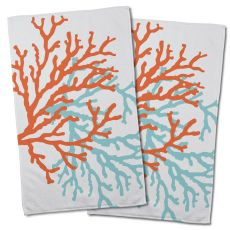 Coral Duo Hand Towel (Set of 2)