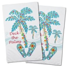 Deck the Palms Hand Towel (Set of 2)