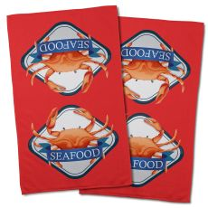 Crab Seafood Hand Towel (Set Of 2)