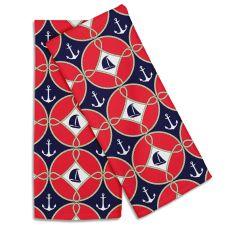 Sailboats & Anchors Hand Towel (Set Of 2)