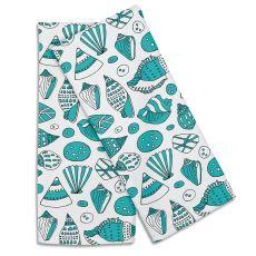 Aqua Shells Hand Towel (Set Of 2)