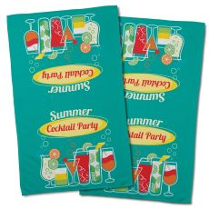 Cocktail Party Hand Towel (Set Of 2)