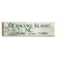 Latitude & Longitude Custom Sign - Anchor Green