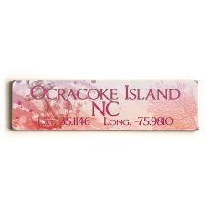 Latitude & Longitude Custom Sign - Anchor Pink & Red
