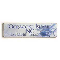 Latitude & Longitude Custom Sign - Sailfish Blue