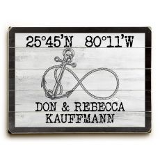 "Custom Coordinates Infinity Anchor Sign - White - 25""X34"""