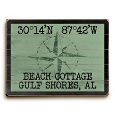 "Custom Coordinates Classic Sign - Nile Green - 14""X20"""
