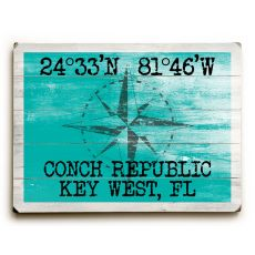 "Custom Coordinates Classic Sign - Sea Green - 25""X34"""