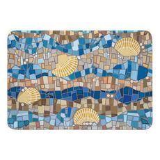 Shell Mosaic Memory Foam Bath Mat