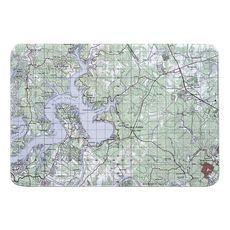 Lake Travis, TX Topo Map Memory Foam Bath Mat