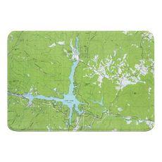 Lake Lure, NC (1982) Topo Map Memory Foam Bath Mat