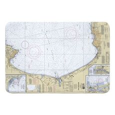 Monterey Bay, CA Nautical Chart Memory Foam Bath Mat