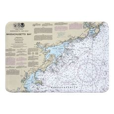 Massachusetts Bay North Memory Foam Bath Mat
