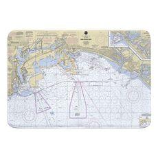 San Pedro Bay, CA Nautical Chart Memory Foam Bath Mat