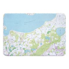 Lake Tohopekaliga, FL (1987) Topo Map Memory Foam Bath Mat
