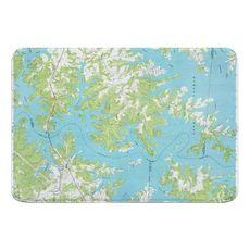 Lake Norman North, NC (1970) Topo Map Memory Foam Bath Mat