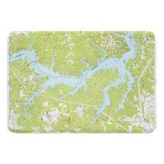 Lake Wylie, SC (1973) Topo Map Memory Foam Bath Mat