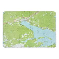 Lake George, NY (1966) Topo Map Memory Foam Bath Mat