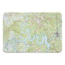 Table Rock Lake, MO (1985) Topo Map Memory Foam Bath Mat