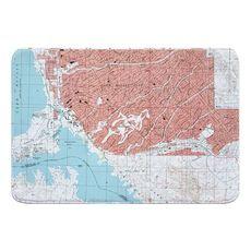 Lake Havasu City South, AZ (1994) Topo Map Memory Foam Bath Mat