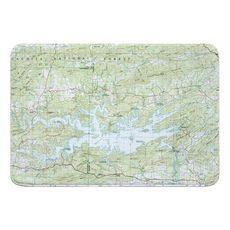 Lake Ouachita, AR (1982) Topo Map Memory Foam Bath Mat
