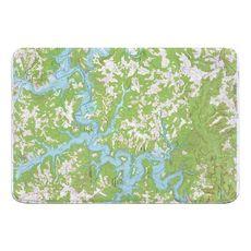 Nolin Lake, KY (1966) Topo Map Memory Foam Bath Mat
