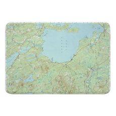 Sebago Lake, ME (1942) Topo Map Memory Foam Bath Mat