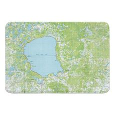 Mille Lacs Lake, MN (1985) Topo Map Memory Foam Bath Mat
