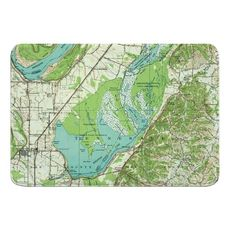 Reelfoot Lake, TN (1956) Topo Map Memory Foam Bath Mat