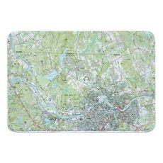 Lowell, MA (1987) Topo Map Memory Foam Bath Mat