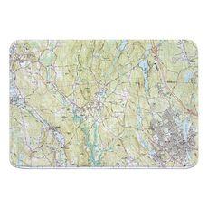 Upton, Milford, MA (1982) Topo Map Memory Foam Bath Mat