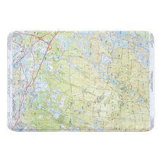 Carver, Plymouth, Wareham, MA (1972) Topo Map Memory Foam Bath Mat