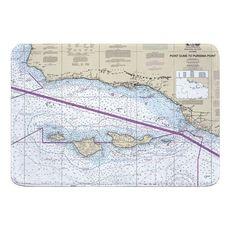 Point Dume to Purisima Point, CA Nautical Chart Memory Foam Bath Mat